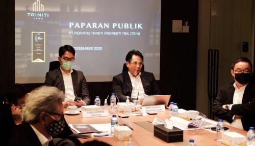 Kantongi Marketing Revenue Rp185,2 Miliar, Triniti Land: Properti Bangkit di 2021