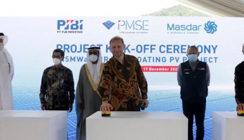 Pembangunan PLTS Terapung Cirata 145 MW Resmi Dimulai