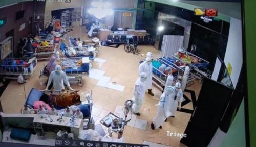 Viral! Foto Ruang Incovid RSSA Malang Penuh Sesak Pasien Covid-19