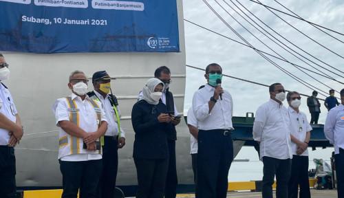 Resmi! Kemenhub Resmikan Pelayaran Perdana Lintas Penyeberangan di Pelabuhan Patimban