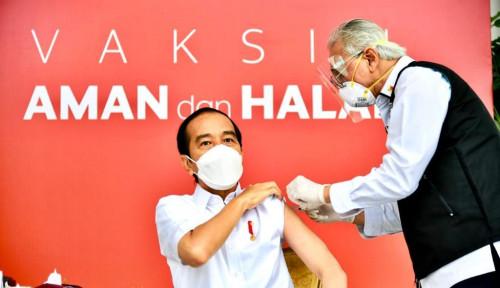 Kabar Jokowi Orang yang Pertama Divaksin di Indonesia Sudah sampai ke Raja Philippe Belgia