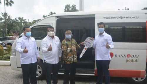 Dukung PMI, Bank DKI Serahkan Satu Unit Mobil Donor Darah