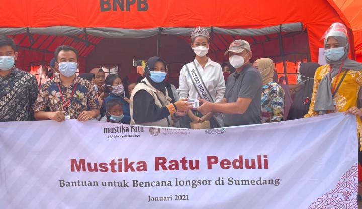 Mustika Ratu Salurkan Bantuan untuk Korban Bencana di Sumedang, Kalsel dan Mamuju