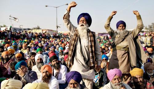 Gelombang Unjuk Rasa Para Marhaen India Berlanjut, Membeludak di New Delhi
