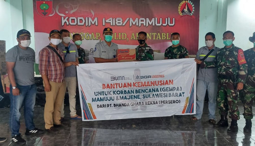 BGR Logistics Salurkan Bantuan Sembako ke Korban Gempa Sulbar