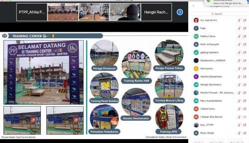 Melalui Teknologi Digital, BOD PTPP Lakukan Project Visit Virtual Proyek Stadion Banten