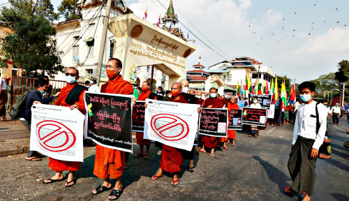 Pedemo Myanmar Tewas Didor Polisi, Uni Eropa Gatal: Akan Dibahas di Meja UE