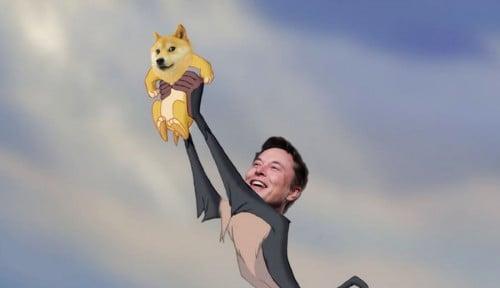 Foto Ngadi-Ngadi! Gak Bercanda, Elon Musk Bilang Bakal Bawa Dogecoin ke Bulan!