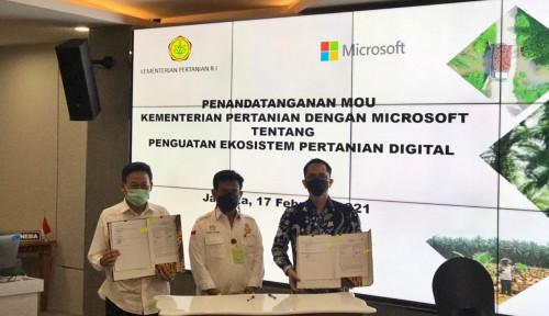Kementan-Microsoft Indonesia Teken MoU Kembangkan Ekosistem Agrikultur Berbasis Data