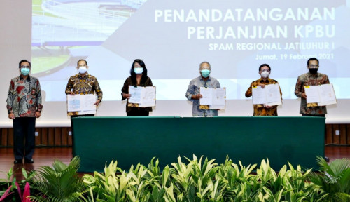 Kementerian PUPR Lakukan Penandatanganan Perjanjian Kerjasama Proyek SPAM Regional Jatiluhur I