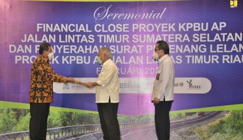 Financial Close KPBU AP Jalintim Sumsel dan Riau: Tingkatkan Kualitas Jalan Nontol Tanpa Bebani APBN