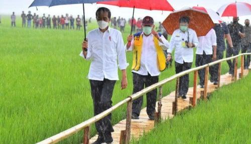 Tinjau Infrastruktur Irigasi Food Estate Sumba Tengah, Menteri Basuki Dampingi Presiden Jokowi