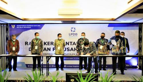 Foto LPDB-KUMKM Tandatangani Kerjasama dengan 18 Lembaga Penjamin Daerah