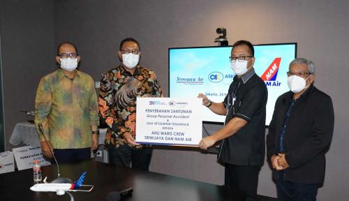 Cairkan Rp10,6 M, Askrindo Serahkan Santunan Kepada Keluarga Pilot Sriwijaya Air