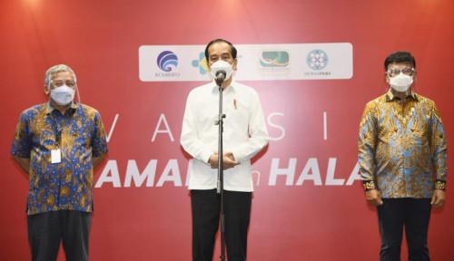 Jokowi Tinjau Vaksinasi Covid-19 Wartawan: Semoga Dapat Berikan Perlindungan bagi Awak Media