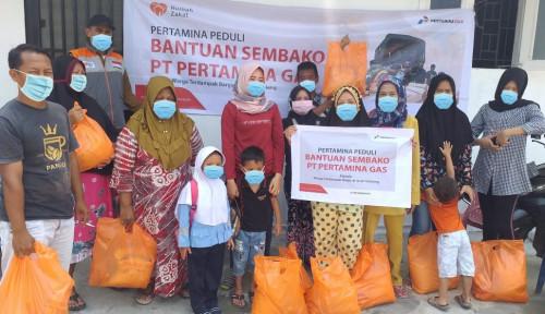 Pertagas Serahkan Bantuan Sembako Korban Banjir di Aceh