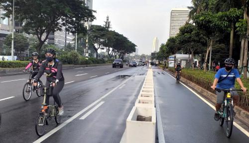 Jalur Sepeda di Jalan Layang Non-Tol Jakarta Bakal Dipermanenkan