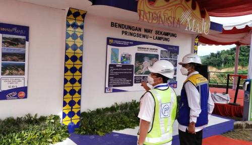PTPP Kebut Pembangunan Bendungan Way Sekampung, Ma'ruf Amin Cek Progres