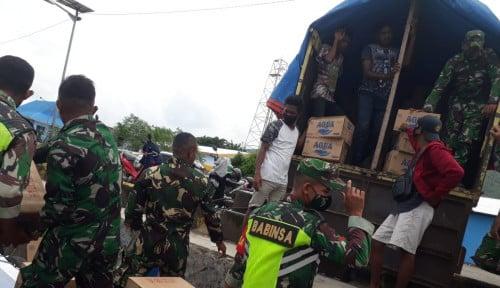 Danone Indonesia Bagikan Ribuan Botol AQUA untuk Korban Bencana NTT