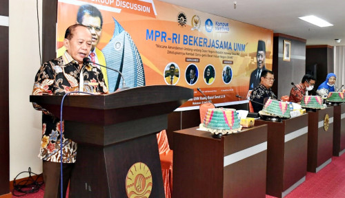 Gelar FGD di UNM Syarief Hasan Minta Masukan Akademisi Soal GBHN