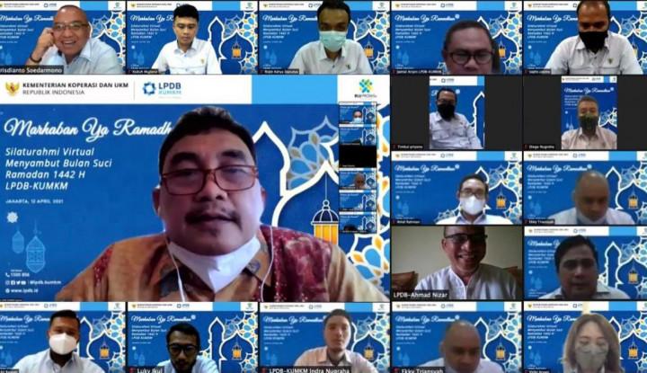 Sambut Bulan Ramadan 1442 H, LPDB-KUMKM Lakukan Silaturahmi Virtual
