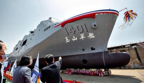 Bikin China Merinding! Begini Tampilan Kapal Perang Amfibi Teranyar Milik Taiwan