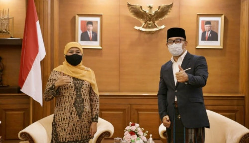 Ridwan Kamil Sowan ke Khofifah, Cie Mau Nyalon Jadi Presiden Nih