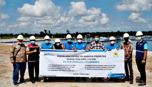 Bantu Petani Tambak Udang Tingkatkan Ekspor, PLN Listriki 7 Tambak di Pulau Bangka