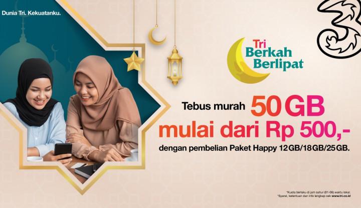 Bebas Silaturahmi Online Selama Ramadhan dengan Voucher Happy dari 3 Indonesia