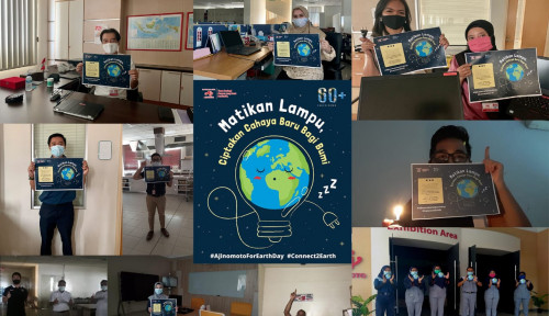 Peringati Hari Bumi Internasional, Ajinomoto Indonesia Matikan Gelar Earth Hour