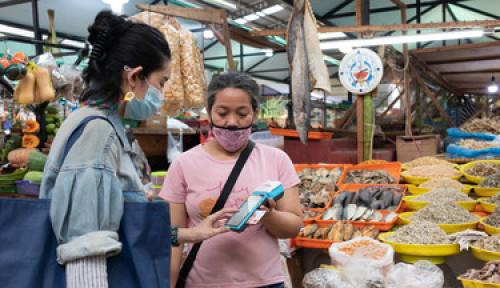 500 Pedagang di Pasar Tradisional Ini Terima Pembayaran Non-Tunai