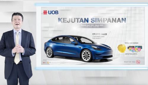 Kan Maen... Ini Beneran Nabung di UOB Indonesia Dapat Mobil Listrik Tesla?
