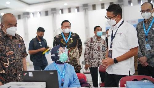 Disaksikan Mas Menteri, 8.080 Orang Divaksin di Sentra Vaksinasi Traveloka Yogyakarta