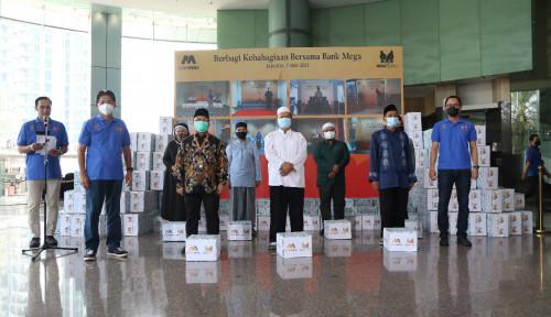 Bank Mega Bagikan 20 Ribu Paket Sembako Senilai Rp2,5 Miliar ke Masyarakat