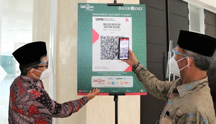 Mudahkan Donasi dan Infaq, Bank DKI Sediakan Scan QR Code di 2000 Masjid