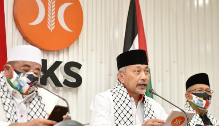 Kutuk Israel, PKS: Kejahatan Manusia Harus Diakhiri