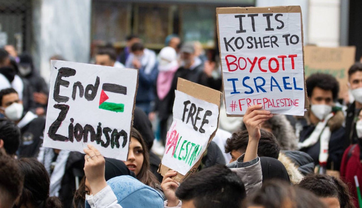 Merinding! Kota-kota Besar di Eropa Disesaki Pengunjuk Rasa Pendukung Palestina