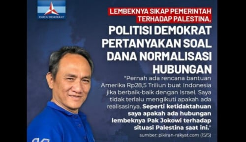 Buntut Ngomong Amerika Bantu Indonesia Jika Baik ke Israel, Anak Buah AHY Dimaki-maki Netizen