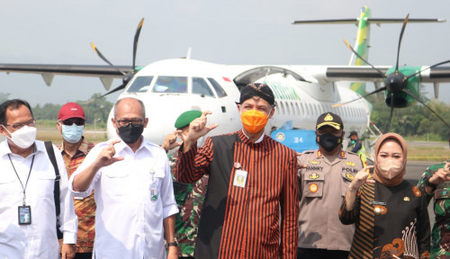 Cetak Sejarah Baru, Alhamdulillah... Citilink Maskapai Pertama yang Terbang di Purbalingga