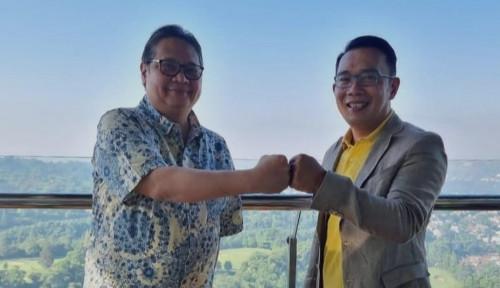 Bertemu Airlangga Hartarto, Ridwan Kamil Sampaikan Aspirasi Pengelolaan Ladang Minyak Marjinal