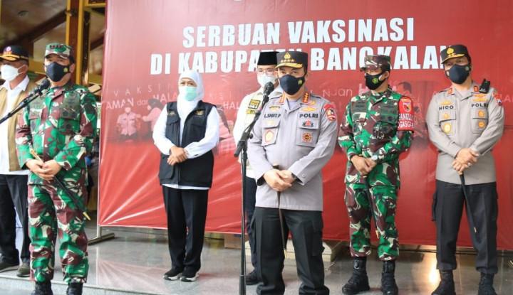 Simak! ini Cara Kapolri dan Panglima TNI Atasi COVID-19 di Bangkalan