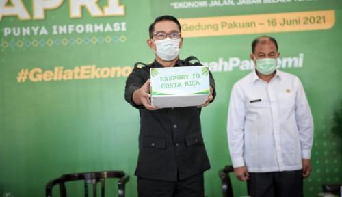 Ridwan Kamil Lepas Ekspor 23 Ton Produk Kelapa Parut Kering ke Kosta Rika