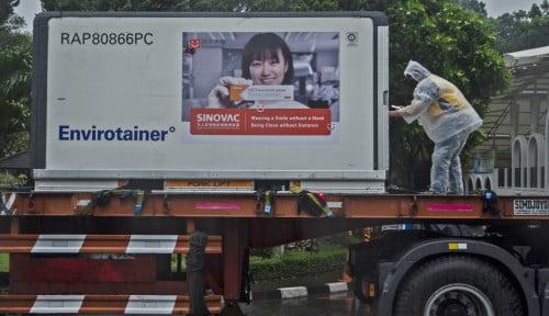 Indonesia Terima Tambahan 21,2 Juta Dosis Bahan Baku Vaksin Sinovac