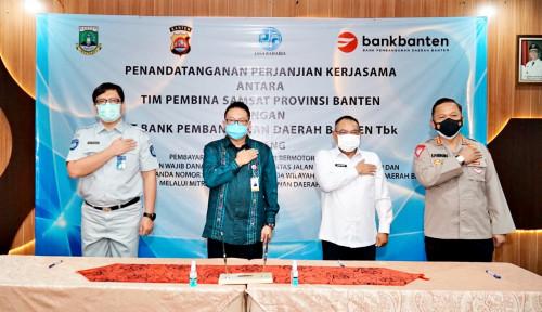 Bank Banten Tandatangani Perjanjian Kerja Sama dengan Tim Pembina Samsat Provinsi Banten
