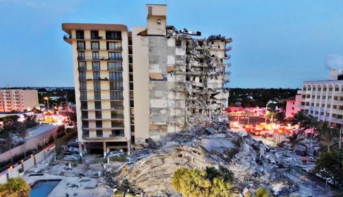 Di Miami, Satu Apartemen Runtuh dan Hilangkan Hampir 100 Orang