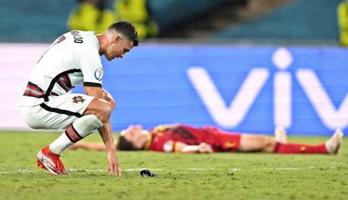 Reaksi Ronaldo Setelah Portugal Tumbang di Euro Jadi Sorotan