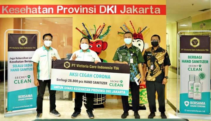 VICI Victoria Care Indonesia Salurkan Puluhan Ribu Botol Hand Sanitizer buat Dinkes DKI Jakarta