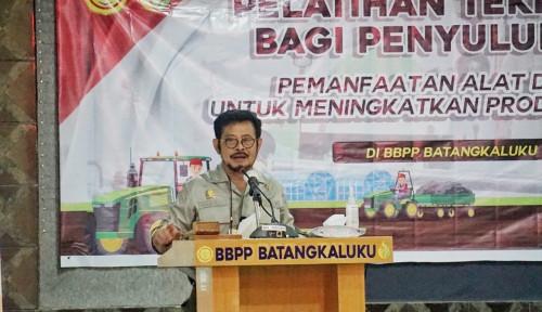 Mentan Syahrul Yasin Limpo di Gowa Sulsel: Kementan Latih Penyuluh dan Petani Kuasai  Teknologi