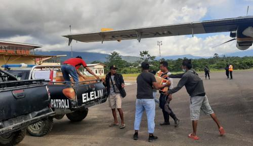 Bantuan Logistik dari Kemensos, Pagi Ini Mulai Disalurkan ke Lokasi Pengungsian Yalimo
