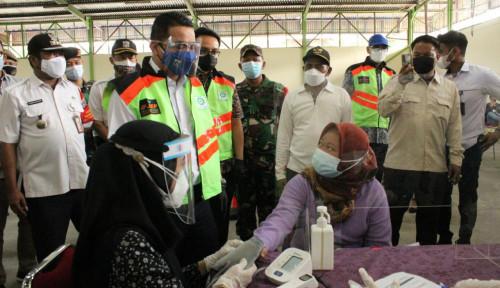 Pantau Vaksinasi di JIEP, Wagub DKI: Semoga Pandemi Covid-19 Ini Segera Berakhir